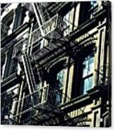 Fire Escape On Franklin Street 2 Acrylic Print