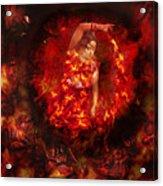 Fire Eye Acrylic Print