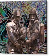 Fire Fighters Memorial Seattle Acrylic Print