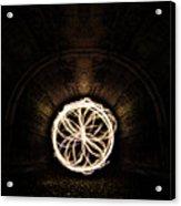 Fire Flower Tunnel Acrylic Print