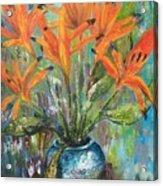 Fire Flowers Acrylic Print