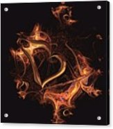 Fire Heart Acrylic Print