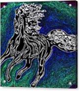 Fire Horse Burn 3 Acrylic Print