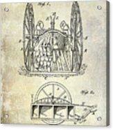 Fire Hose Cart Patent Acrylic Print