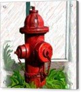 Fire Hydren Acrylic Print