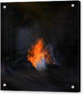 Fire In Desert Acrylic Print
