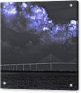Fire In The Clouds Acrylic Print by William Hanus