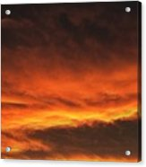 Fire In The Sky Two Acrylic Print