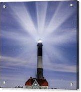 Fire Island Lighthouse Twilight Acrylic Print