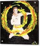 Fire Man Acrylic Print