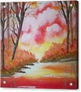 Fire Of God Acrylic Print