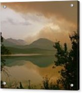 Fire Over St Mary Lake Acrylic Print