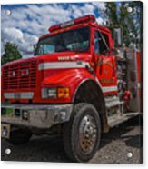 Fire Rescue Acrylic Print