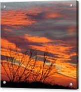 Fire Sunrise Acrylic Print