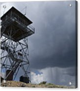 Fire Tower On Bald Mountain Surrounded Acrylic Print
