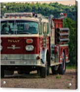 Fire Truck  Engine 13 Village Of Tully New York Pa Acrylic Print