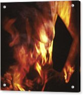 Fire Two Acrylic Print by Arla Patch