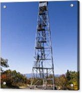 Fire Watch Tower Overlook Mountain Acrylic Print