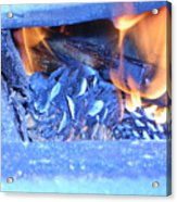 Fire With Pinecones Acrylic Print