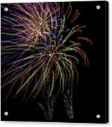 Fire Works Acrylic Print by Kelly Schuler