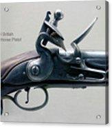 Firearms 1746 British Flintlock Horse Pistol Acrylic Print