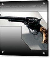 Firearms Tv Gunsmoke Marshall Dillon Colt Model 1873 Army Revolver Acrylic Print