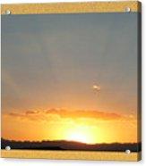 Fireball Sunset Acrylic Print