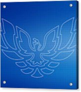 Firebird Blueprint Acrylic Print