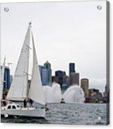 Fireboat Sail By Acrylic Print