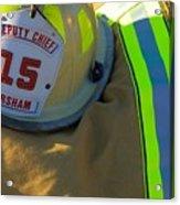 Firefighter Still Life Acrylic Print