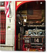 Firefighters Of New York - Engine Sweet 14 - Closeup Acrylic Print