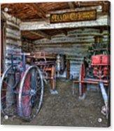 Firefighting Engine Company No. 1 - Nevada City Montana Ghost Town Acrylic Print by Daniel Hagerman