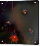 Firefly Me To The Moon Acrylic Print by Bernie  Lee