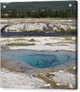 Firehole River And Pool Acrylic Print
