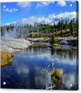 Firehole River Yellowstone Acrylic Print