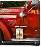Fireman - Garwood Fire Dept Acrylic Print by Mike Savad