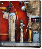 Fireman - An Assortment Of Nozzles Acrylic Print