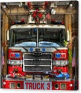 Fireman - Fire Engine Acrylic Print by Lee Dos Santos
