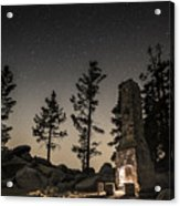Fireplace Under The Stars Acrylic Print