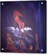 Fireside Tales Acrylic Print