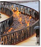 Fireside Walk Acrylic Print