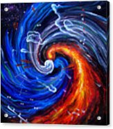 Firestorm Dancing With The Wind  Acrylic Print