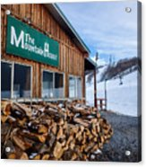 Firewood Ready To Burn In Fire Place Acrylic Print