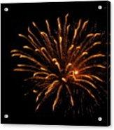 Firework Golden Lights Acrylic Print