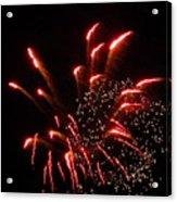 Firework Lights Of The City Acrylic Print