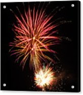 Firework Pink And Gold Acrylic Print