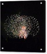 Firework Silhouettes Acrylic Print