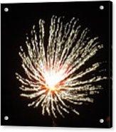 Firework White Fluff Acrylic Print