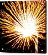 Firework Yellow Burst Acrylic Print
