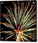 Firework Yellow Tip Acrylic Print